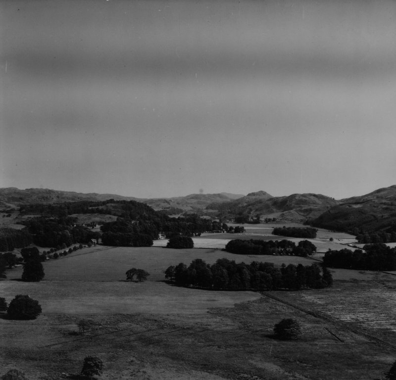 Kilmartin, general view, showing Ri Cruin and Nether Largie.  Oblique aerial photograph taken facing north-east.  This image has been produced from a print.