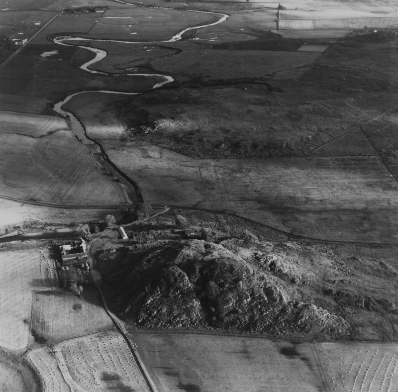 Dunadd and River Add, Kilmichael Glassary.  Oblique aerial photograph taken facing south-east.  This image has been produced from a print.