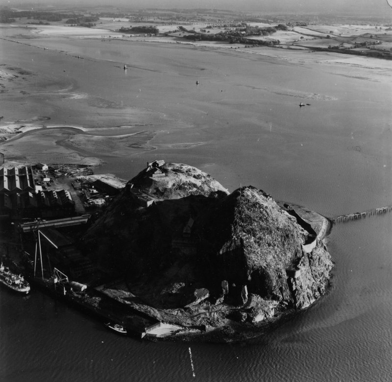 Dumbarton Rock.  Oblique aerial photograph taken facing south-east.  This image has been produced from a print.