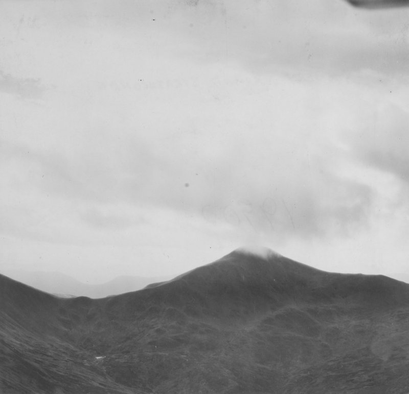 Sgurr a' Choire Ghlais, Strathconon Forest.  Oblique aerial photograph taken facing south.  This image has been produced from a print.