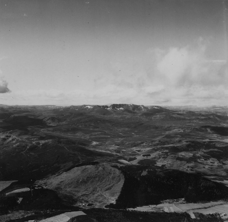 Glen Girnock and Lochnagar - Cac Carn Beag, Grampian Mountains.  Oblique aerial photograph taken facing south-west.  This image has been produced from a print.