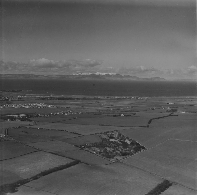 Firth of Clyde, general view, showing Loans to Isle of Arran.  Oblique aerial photograph taken facing west.  This image has been produced from a print.