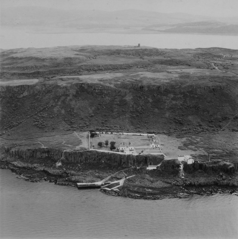 Cumbrae Lighthouse, Little Cumbrae Island.  Oblique aerial photograph taken facing east.  This image has been produced from a print.