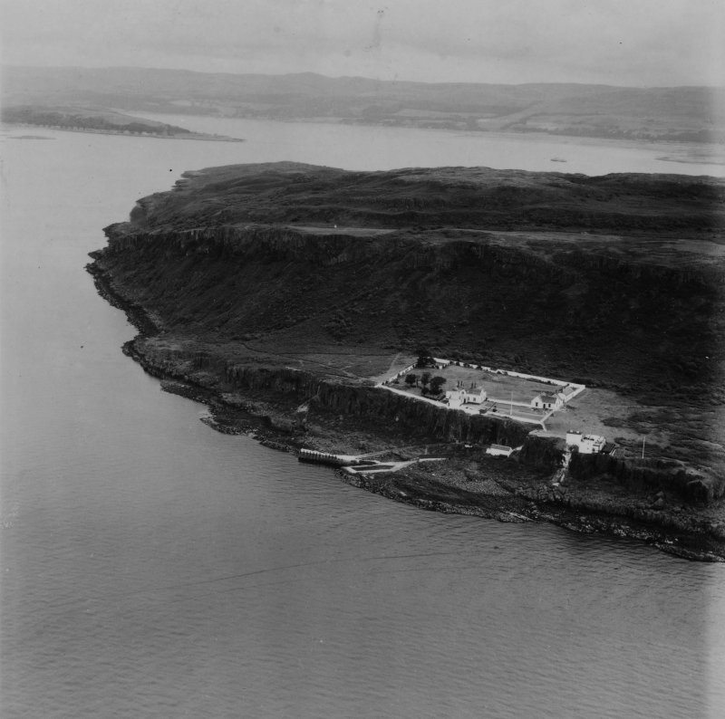 Cumbrae Lighthouse, Little Cumbrae Island.  Oblique aerial photograph taken facing north-east.  This image has been produced from a print.
