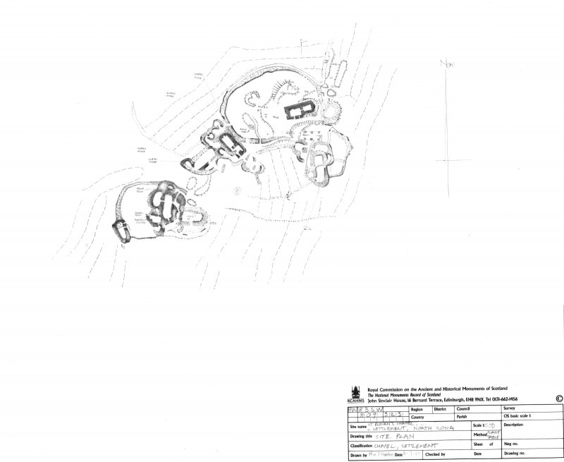 North Rona, Village settlement, RCAHMS survey drawing 1:500