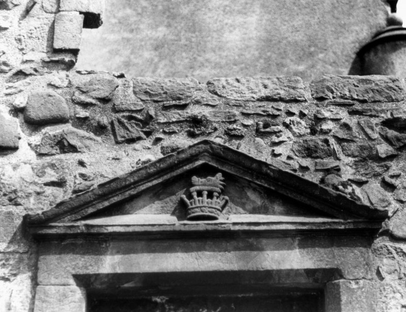 Detail of pediment in Argyll wing.