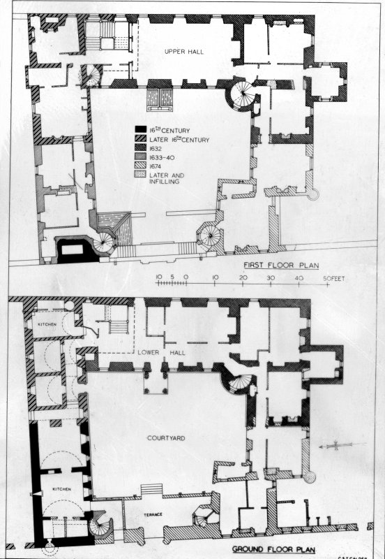 Photographic copy of ground and first floor plans.