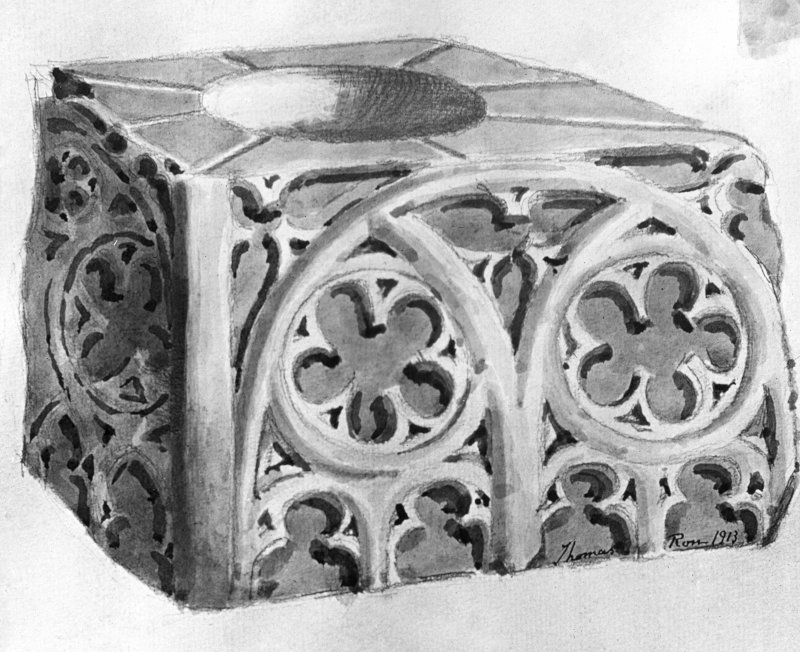 Drawing of font, Church of the Holy Rude, Stirling.