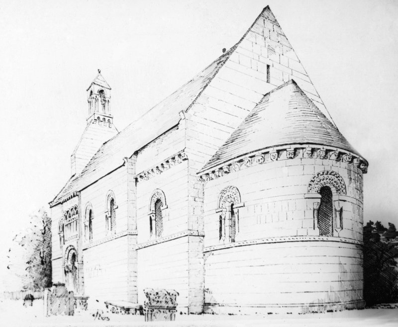 Copy of drawing showing general view.