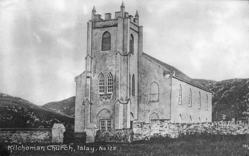 Islay, Kilchoman Church. General view of church. Insc: 'Kilchoman Church, Islay, No.125'
