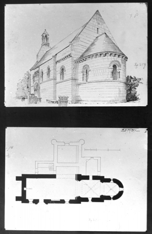 Exterior and plan drawings.