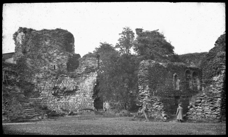 General view of ruins of Rothesay Castle.