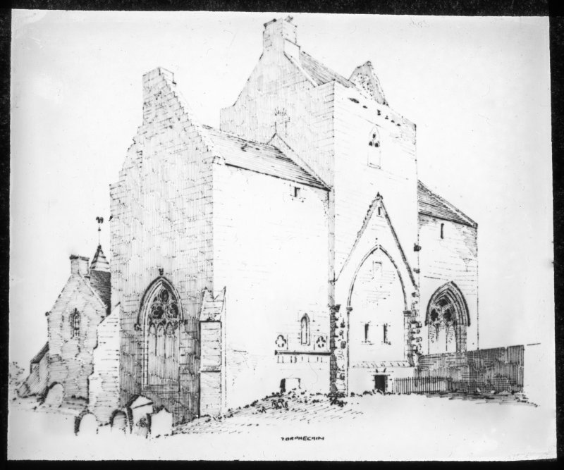 Drawing, general view from SE.