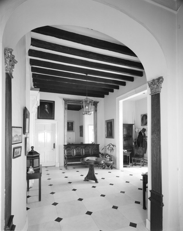 Interior. View of vestibule from SW.