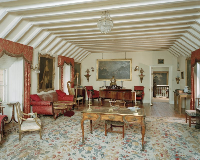 Interior view of first floor drawing room from NE, Penicuik House.