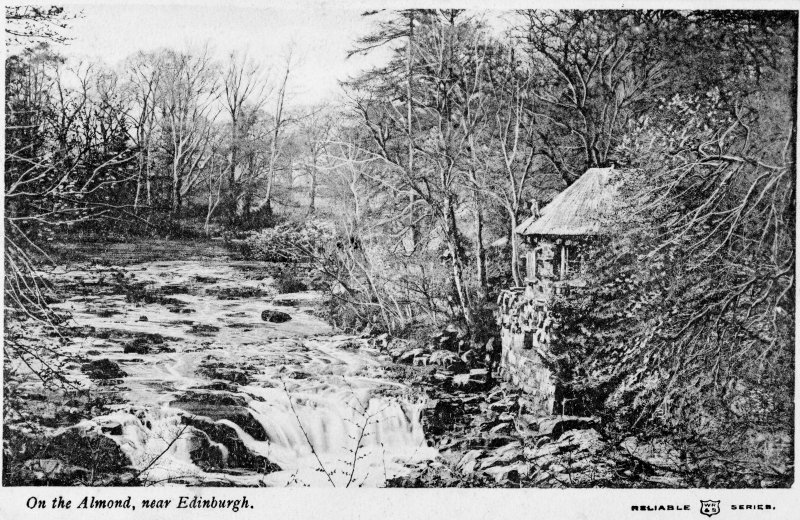 Craigiehall, grotto View from River Almond (postcard) Entitled: 'On the Almond near Edinburgh'