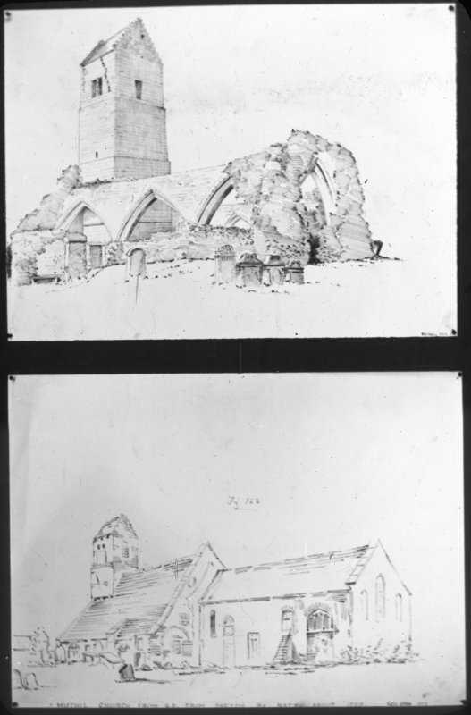 Photographic copy of drawings showing general views.