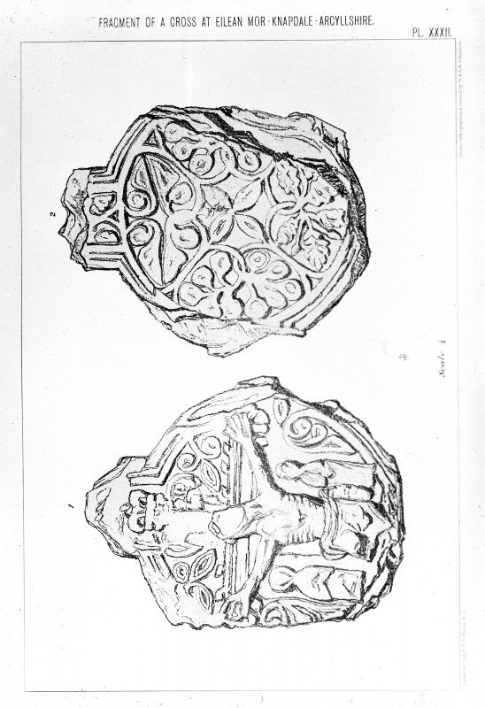 Eilean Mor, photographic copy of stone from Capt. T.P. White, 1875, 'Archaeological Sketches in Scotland, Knapdale and Gigha', pl. xxxii.