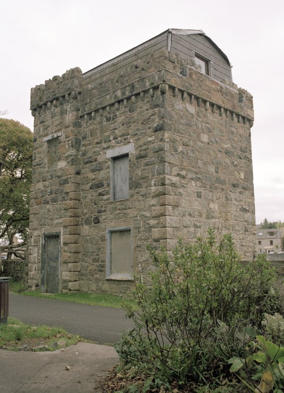 General view of building within Lews Castle policies, Stornoway, taken from the west.