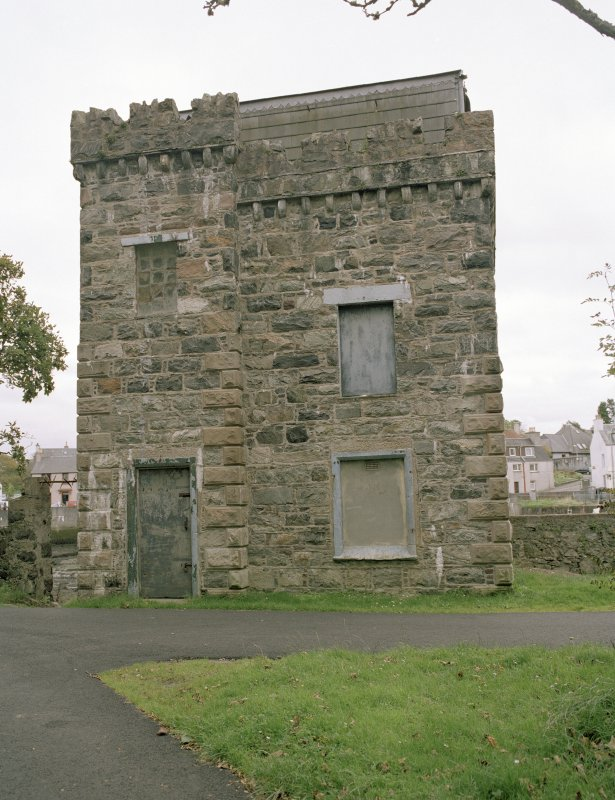 General view of building within Lews Castle policies, Stornoway, taken from the north west.