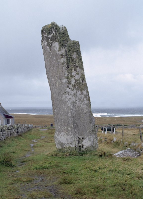 General view of Clach An Trushal Standing Stone taken from the south east.