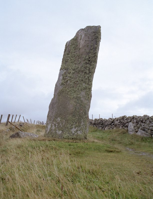 General view of Clach An Trushal Standing Stone taken from the north west.
