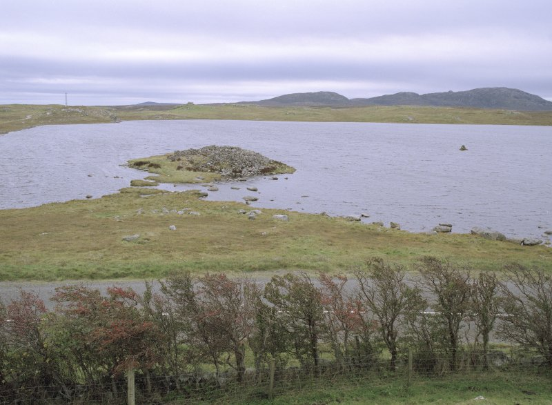 General view of Loch An Duna Broch taken from the north.