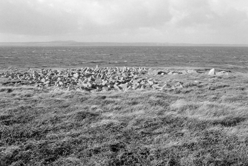 General view of Caisteal Mhic Creacail chambered cairn, taken from the south south west.