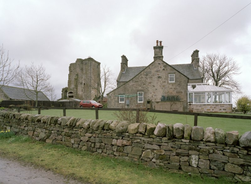 General view of tower and farmhouse from NNE