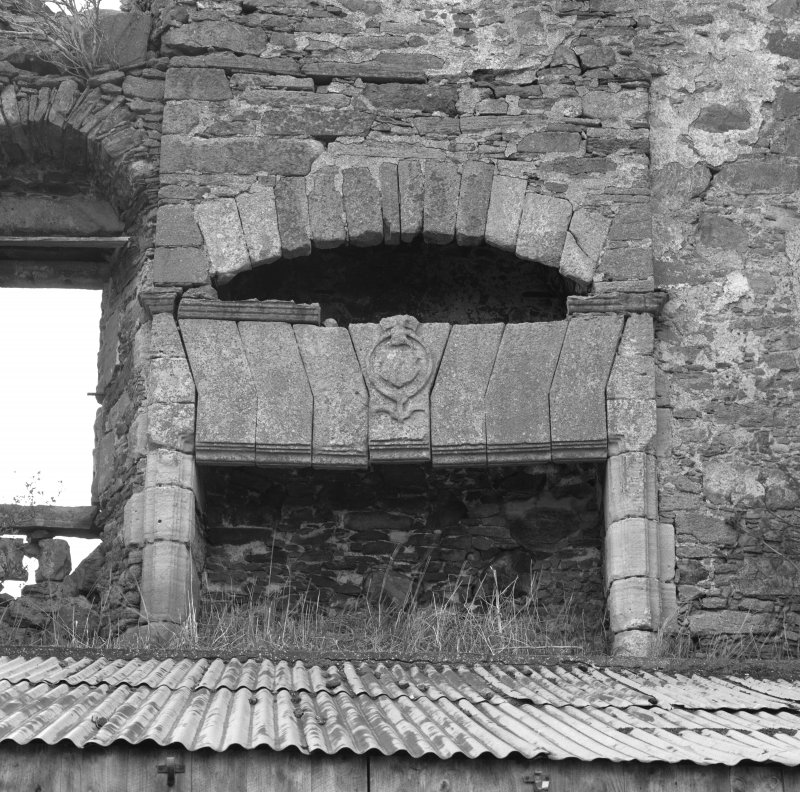 Detail of first floor hall fireplace