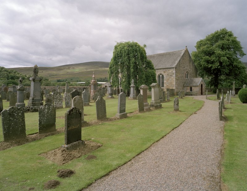 Exterior, general view of church and graveyard from South.