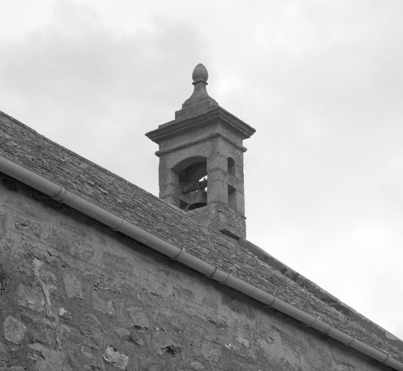 Exterior, detail of bellcote.