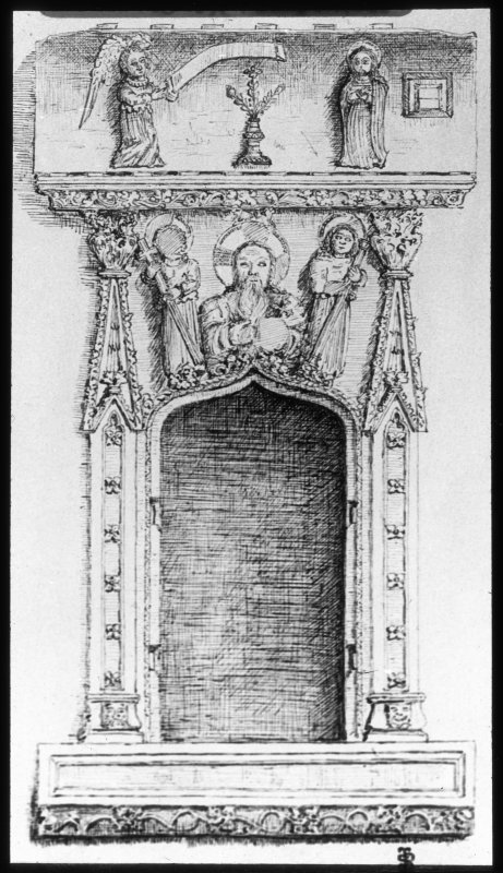 View of drawing of niche.