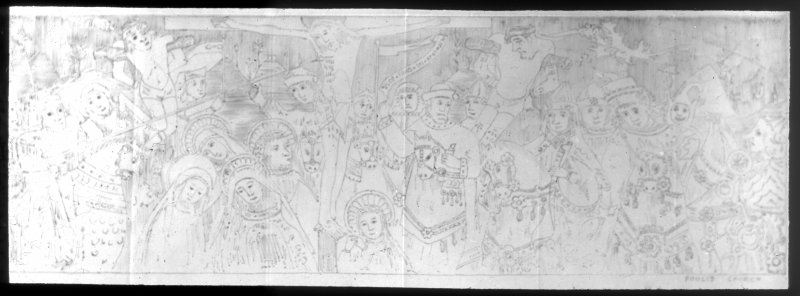 Photographic copy of drawn mural.