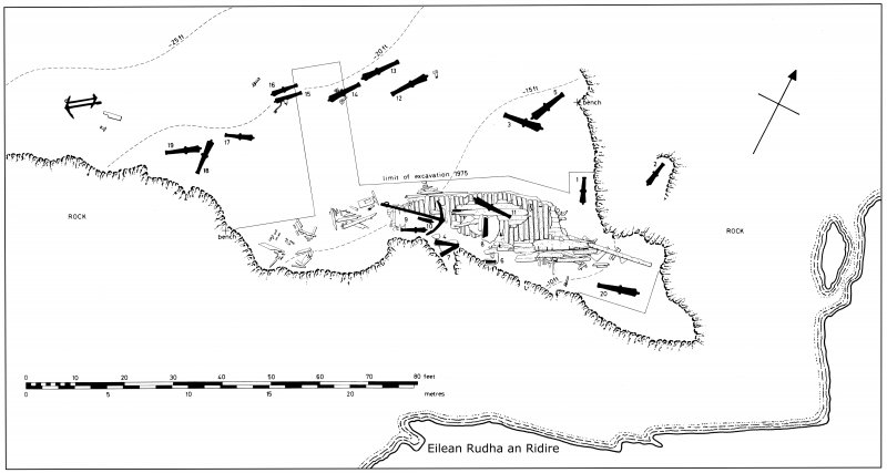 General plan of the Dartmouth wreck-site (Martin, 1978: 32).