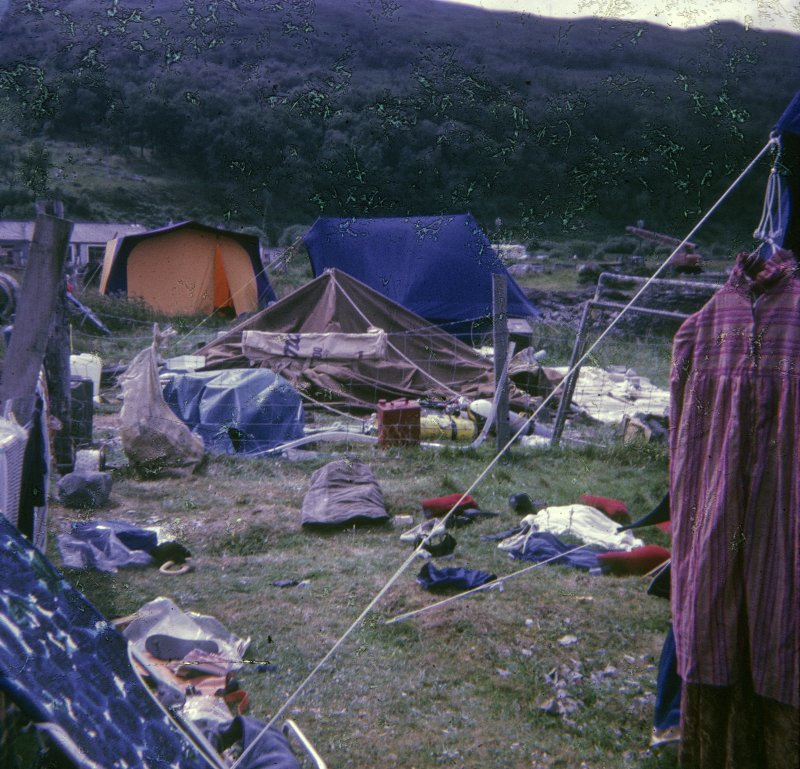The Scottish Institute of Maritime Archaeology was working on a tight budget, and in July 1974 was based in tents at Craignure on Mull. This was a mistake. One stormy night the camp was quite literally blown away.