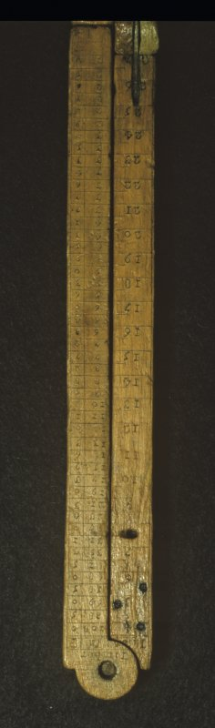 Details of folding scale (HXD 329).