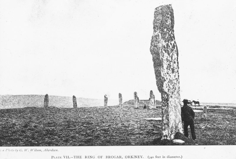 Photographic copy of Plate VII- The ring of Brodgar.