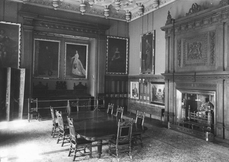 Interior. View of dining room.