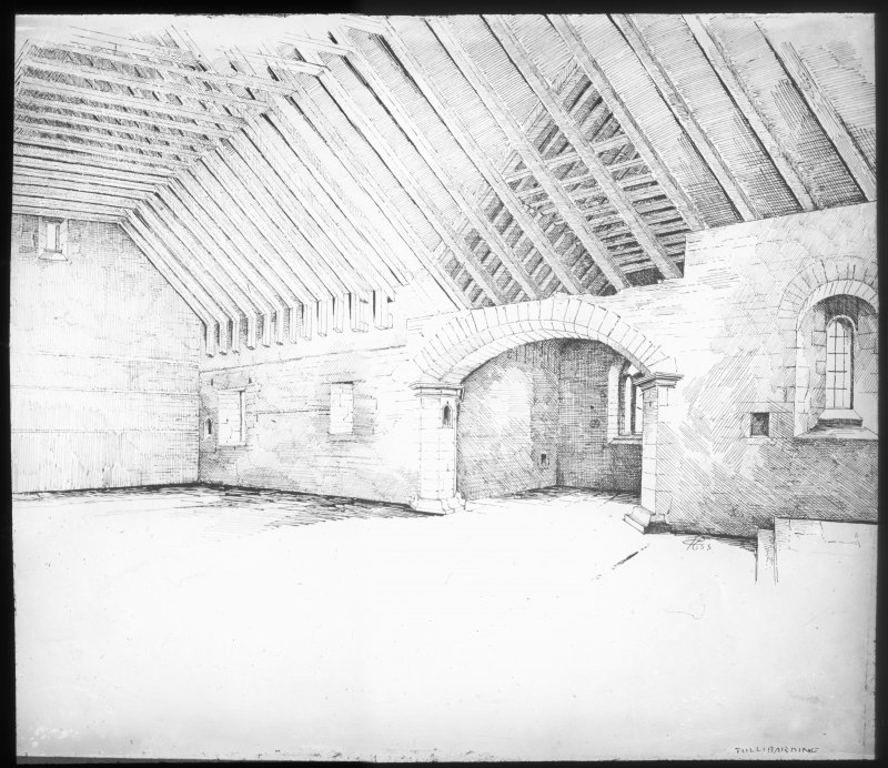 Sketch view of interior.