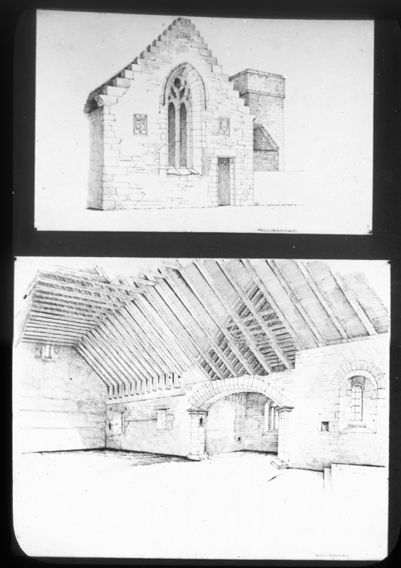 Sketch views of interior and North Trancept.
