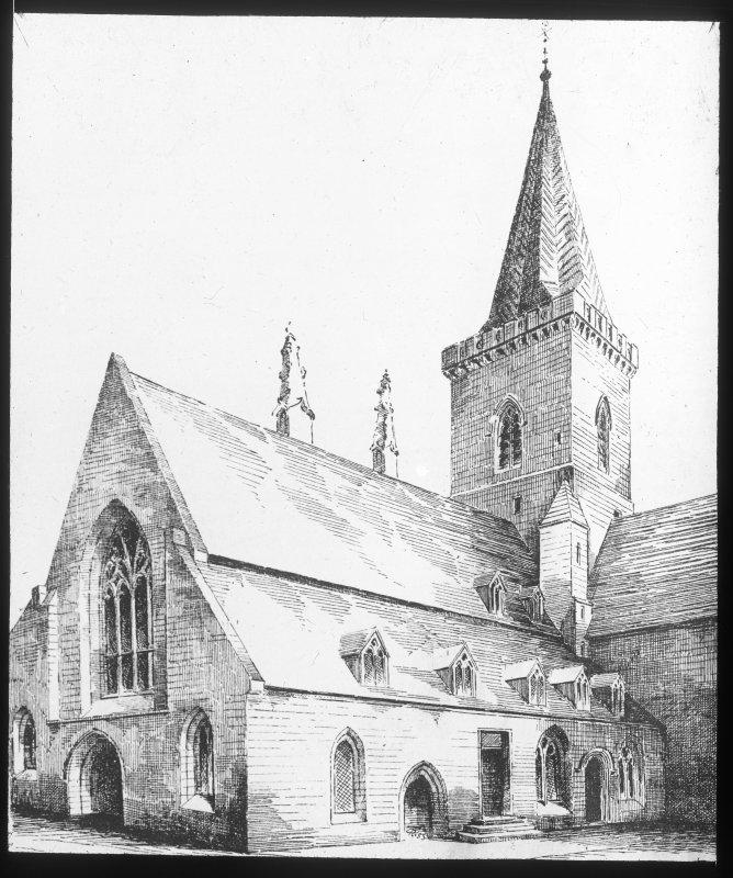 Perth, St John's Place, St John's Church. Photographic copy of drawing showing general view.