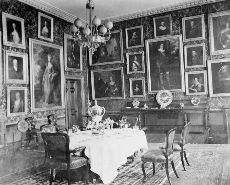 Copy of historic photograph of dining room.