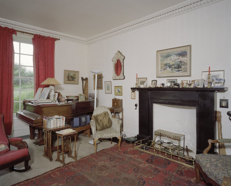 Interior. View of  drawing room from E
