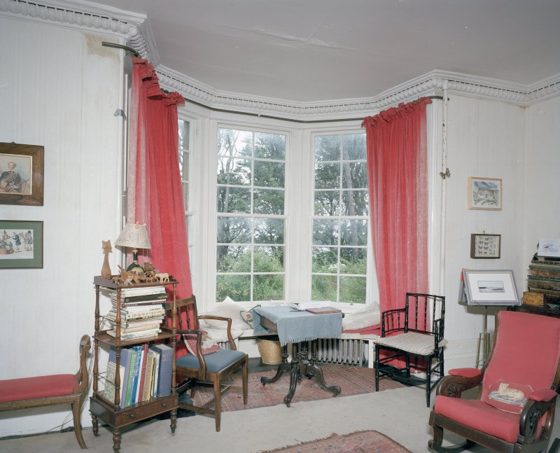 Interior. View of  drawing room bay window