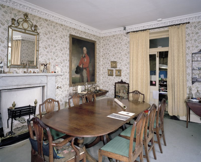 Interior. View of dining room from W