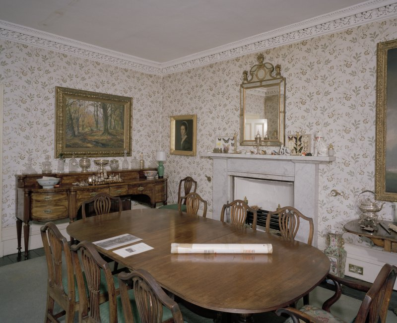 Interior. View of dining room from E