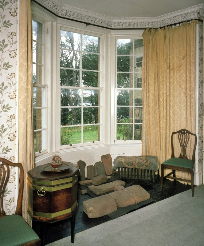 Interior. View of dining room bay window