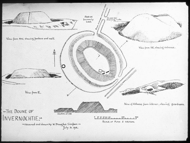 Measured drawings of Invernochtie Doune.