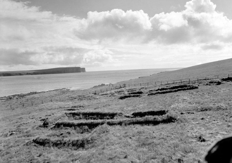 Markwick Head and isolated viking houses.